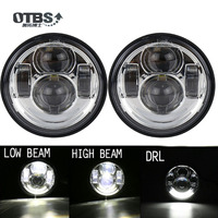 OTBS DOT 5 inch LED Motorcycle HeadLights Head Lamp For Harley Fat Bob FXDF 08 16