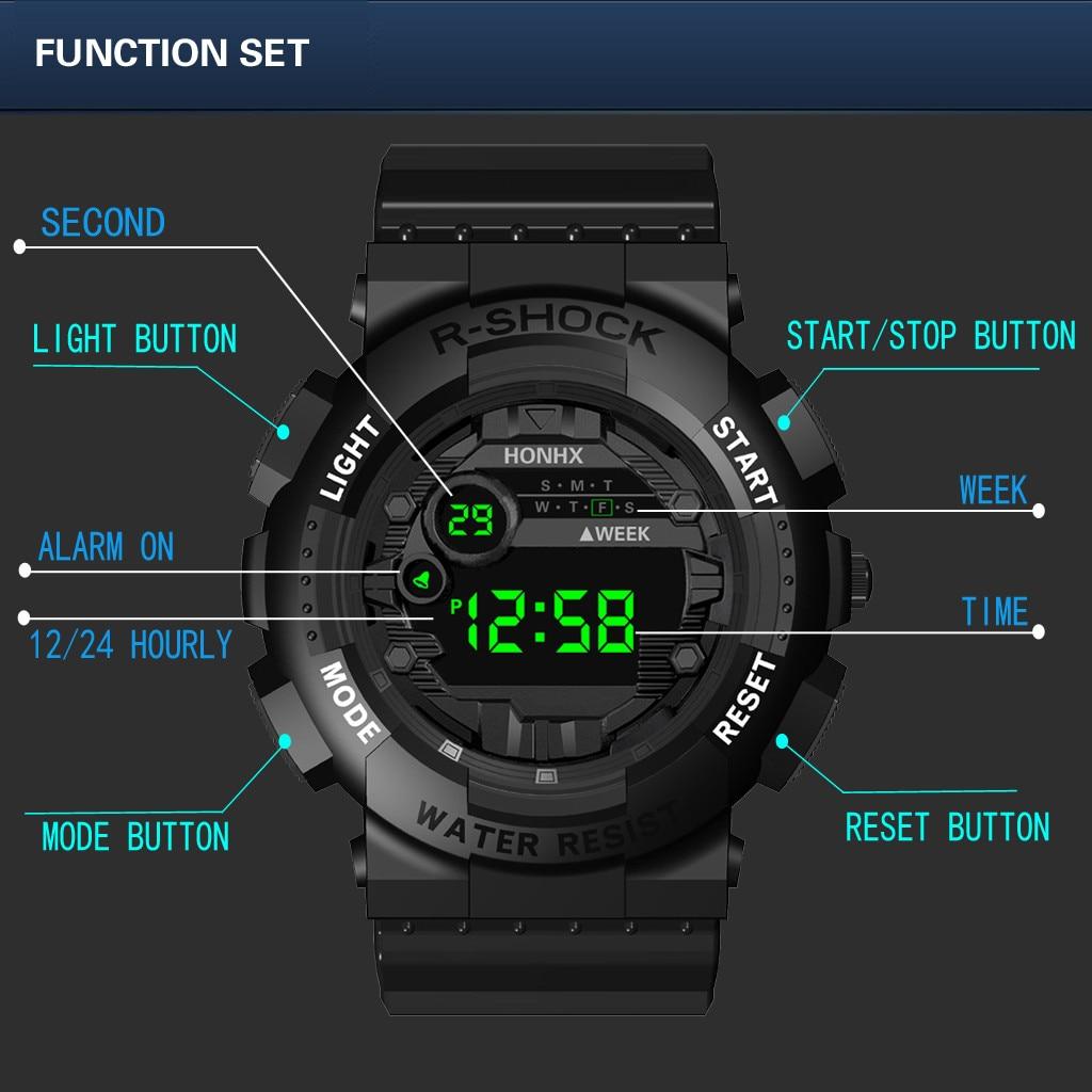 2019 New Top Luxury Brand Analog Digital Led Watches Men Electronic Clock Men Army Military Sports Wrist Watch Relogio Masculino