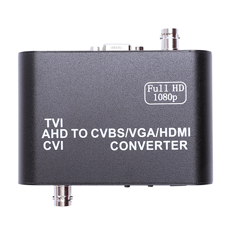 Full HD 1080p Tvi/ Cvi /Ahd To Cvbs/Vga/Hdmi Converter HD Video Converter(US Plug)