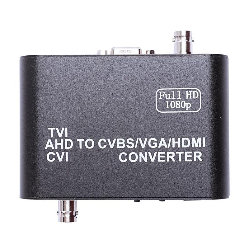Full HD 1080p Tvi/ Cvi /Ahd To Cvbs/Vga/Hdmi Converter HD Video Converter(US Plug)