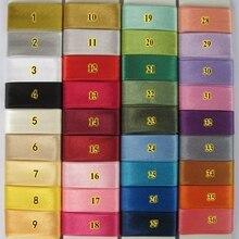 """20 мм(3/"""") Ширина гладить один сложенный полиэстер Атлас косой ленты/косой переплет для одежды скатерти одеяло ремесло шитье diy"""