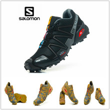 100% Original Salomon Homens Sapatos Tênis Cruz Velocidade 3 CS Camo Homens Cross-country Tênis Masculino Athletic Shoes sapatas do esporte(China)