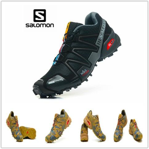 100% chaussures Salomon originales hommes vitesse Cross 3 CS baskets hommes Camo chaussures de course de fond chaussures de Sport homme chaussures de Sport
