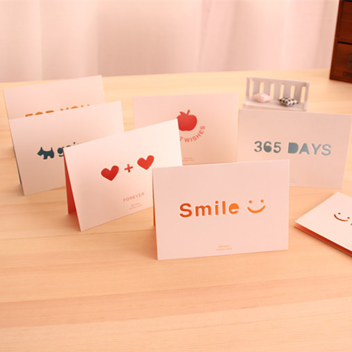Korea Love Quotes Romantic Holiday Greeting Cards Birthday With Envelopes Postcards Blessing