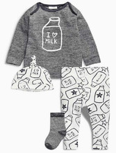 Baby Clothing Set Spring Autumn Newborn Boys Clothes Long Sleeve T-shirt + Pants + Hats 3Pcs Suits Kids Children clothes costume