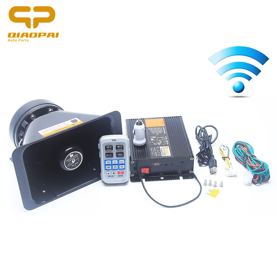 News 2017 200W 8 Sound Tone Alarm Police Fire Siren 12V Horn Wireless Loudspeaker Remote Light