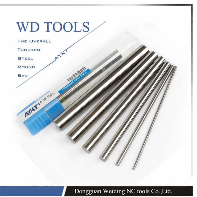 AYKT10pcs 1mm a 7mm X100 longitud tungsteno W Metal tungsteno varilla dureza extensible sin refrigerante agujeros tungsteno sólido carburo Bar