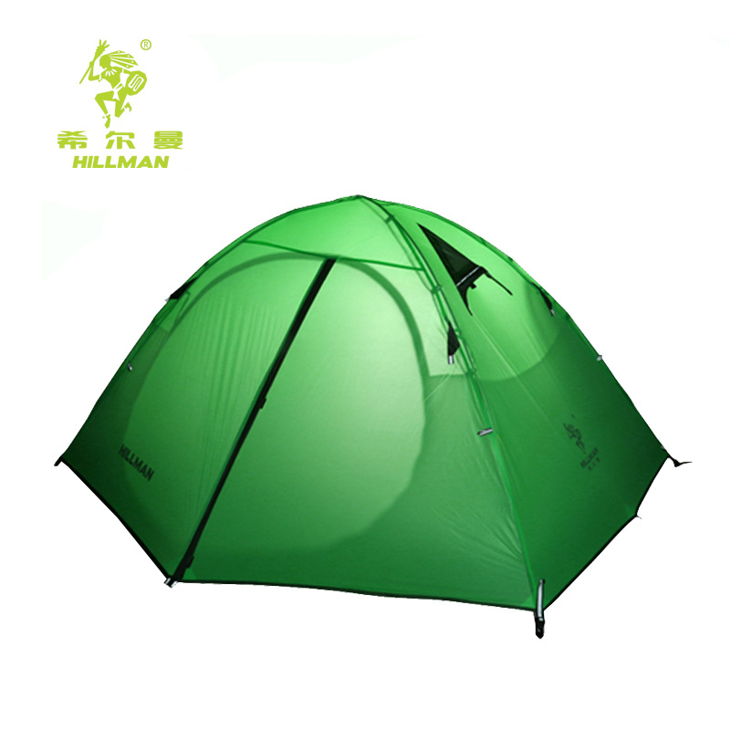 Hillman light 2 outdoor tent super light 20D silicon coated double deck aluminum pole rain proof camping ice fishing tent in Tents from Sports Entertainment