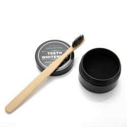Conjunto 2017 de Bambu do Carvão Vegetal Creme Dental Clareamento dos dentes Branqueamento Pó de Dente + escova de Dentes Higiene Oral escova de Limpeza Set