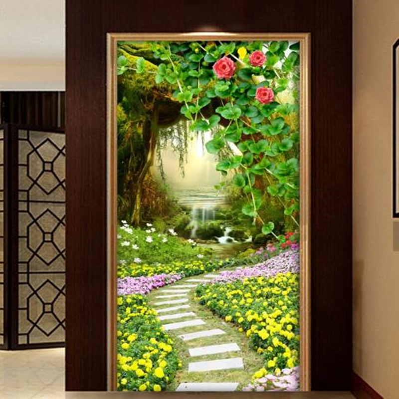 Custom Photo 3D Wallpapers Nature Landscape Painting Murals Hotel Lobby for Living Room Home Decortion Flowers Wood Wall Papers custom photo size wallpapers 3d murals for living room tv home decor walls papers nature landscape painting non woven wallpapers