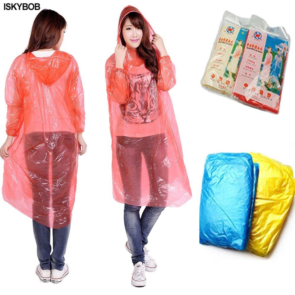 4PCS Camping Emergency Waterproof Kids//Adult Poncho Rain Coat Rain Gear Rainwear