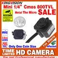 Piso Preço Promoção Muito Samll Hd 1/3 cmos 800TVL INDOOR CCTV Microfone de Áudio Mini Câmera de Segurança de Vigilância Em Casa cor Analógico vid