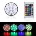 Multi-Color 10LED Light Remote Controlled Submersible LED Light Base Waterproof Wedding Xmas Party Floralytes Centerpiece Decor