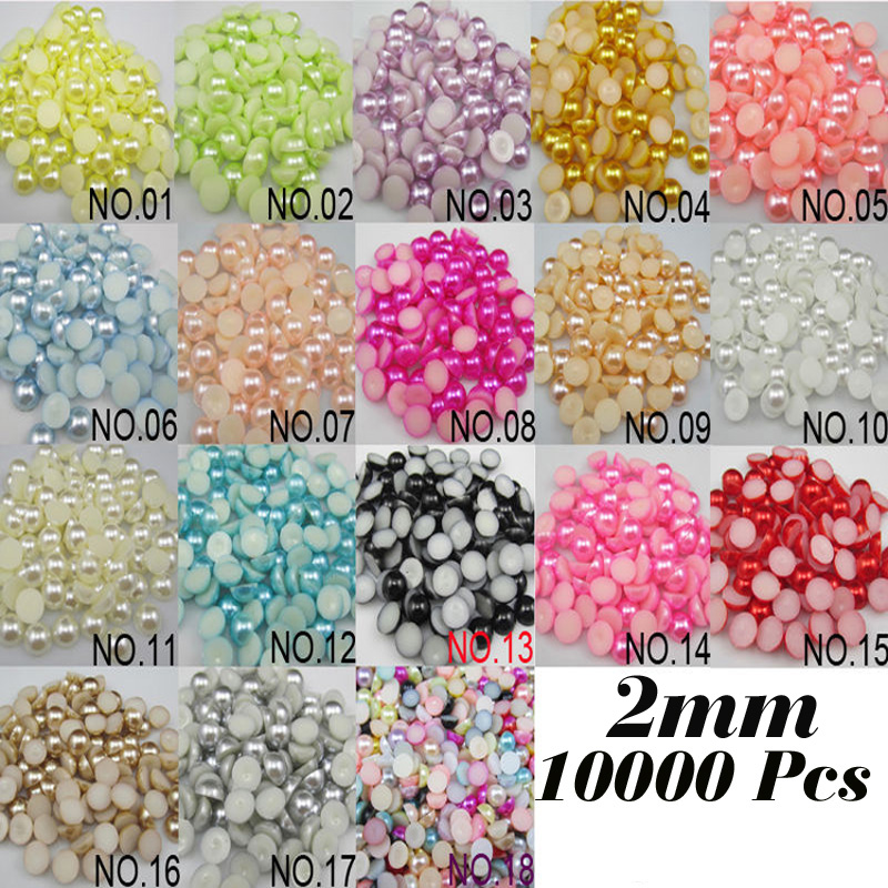 Beads Beads & Jewelry Making Wholesale 10mm 100pcs White Oval Half Flat Back Beads Diy Jewelry Decoration Craft Scrapbooking Accessories Ha-09
