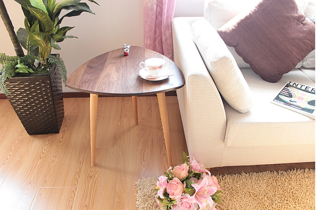 Living Room Furniture Walnut Wood aliexpress : buy solid wood walnut side table black living