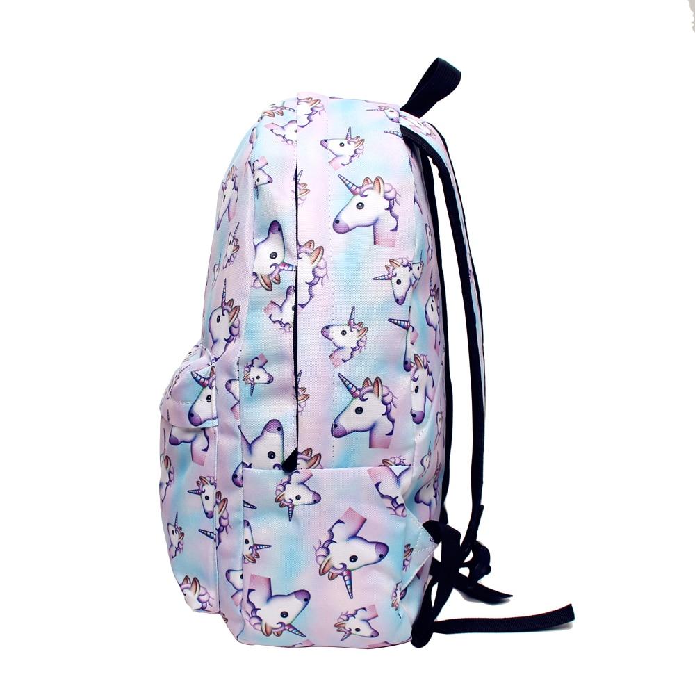 BONAMIE 3D Printing Women Unicorn Backpack Travel Softback Bag Mochila School Bookpack Notebook For Girls Backpack Book Bag