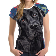 NoisyDesigns Black Lab Sweetheart Printed Women Vogue t shirt Short Sleeve Summer tee Tops for Teenagers Best Friends t shirt(China)