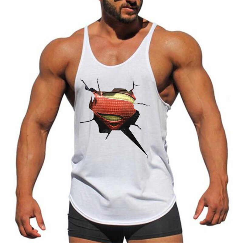 c611ccf58647a ... Brand Fitness Clothing 3D Superman gyms tank top men bodybuilding  stringer singlets muscle vest Weightlifting Sleeveless ...