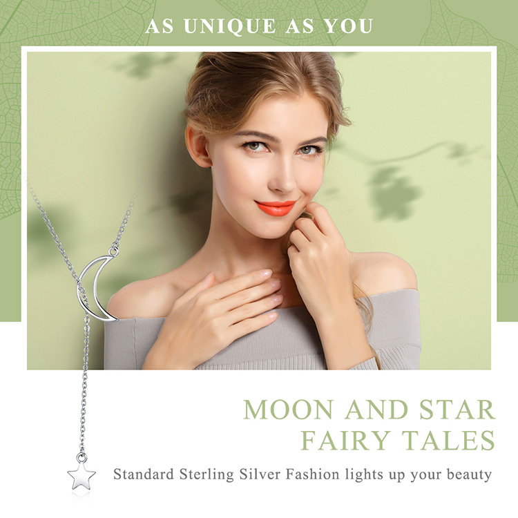HTB1yKo8nrsTMeJjy1zbq6AhlVXaA BAMOER New Arrival Fashion 925 Sterling Silver Moon and Star Tales Chain Link Pendant Necklaces for Women Fine Jewelry SCN108