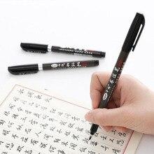 3 шт./компл. искусства Mark Кисть Качество Китайская каллиграфия кисточки знак в разделе изогнутым наконечником ручки для офиса, творческие товары для рисования