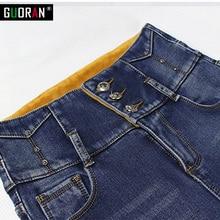 2016 Fashion winter warm thicken plus velvet  Ladies Cotton Denim pencil Pants Stretch Womens Skinny Jeans Denim Jeans Female