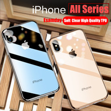 Luxury Clear Silicone Soft TPU Case For 7 8 6 6s Plus 7Plus 8Plus X XS MAX XR Transparent Phone Case For iPhone 5 5s SE 6sPlus(China)