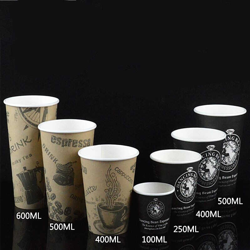Good quality disposable thickened paper milk tea coffee cups Safe and odorless