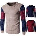 Camisola 2016 dos homens cor Da Moda quente agulha de tricô camisola Y256