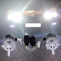 2Pcs H4 COB Chip Car Headlight 60W 6000Lm Automobiles Headlamp Bulb 6000K White Led Head Lamp