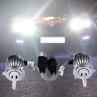 2Pcs H4 COB Chip Car Headlight 60W 6000Lm Automobiles Headlamp Bulb 6000K White Led Head Lamp