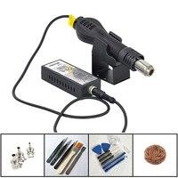 110V 220V Portable Hot Air Gun BGA Rework Solder Station Hot Air Blower Heat Gun Intelligent Detection And Cool Air YOUYUE 8858