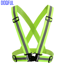 3pcs/lot Reflective Safety Vest Strips Elastic Belt Work Wear Uniforms Traffic Visibility Security Night Jogging Running Cycling