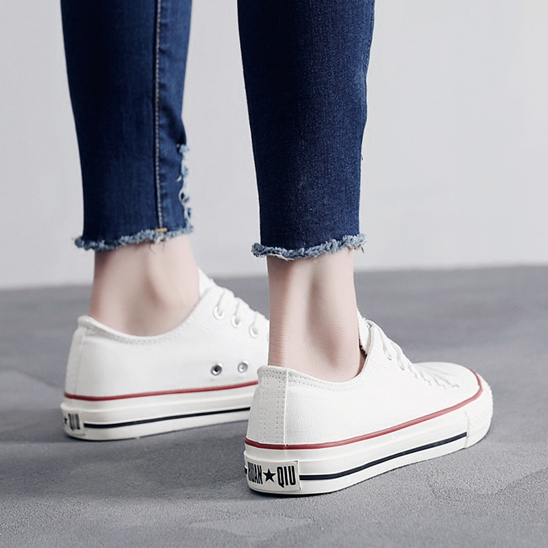 Women Causal Shoes Summer/Autumn Flats Women Canvas Shoes Classic Lace Up White/black Walking Fashion Women Sneakers 2e50 fashion women flats summer leather creepers platform sneakers causal shoes solid basket femme white black
