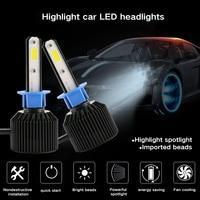 2 Pcs D3 H4 H7 H1 H3 H8 H11 9005 9006 COB LED Car Headlight Bulb