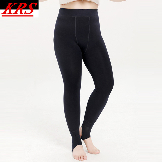 75618c6113290 Hot Sale Winter Fashion Plus Thick Velvet Warm Seamlessly Integrated  Inverted Cashmere Leggings High Elasticity Pants 40-100kg
