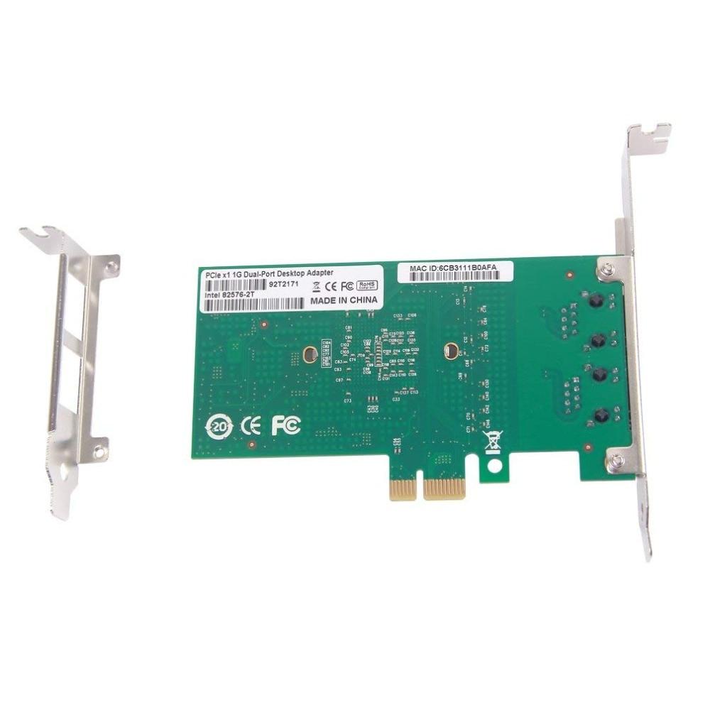 10Gtek для Intel 82576 Чып 1G гігабітны сеткавы - Камунікацыйнае абсталяванне - Фота 5