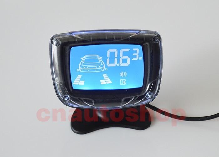 4 датчика s 22 мм английский человеческий голос ЖК-датчик парковки Комплект дисплей Автомобильный радар заднего хода монитор система 12 в 8 цветов