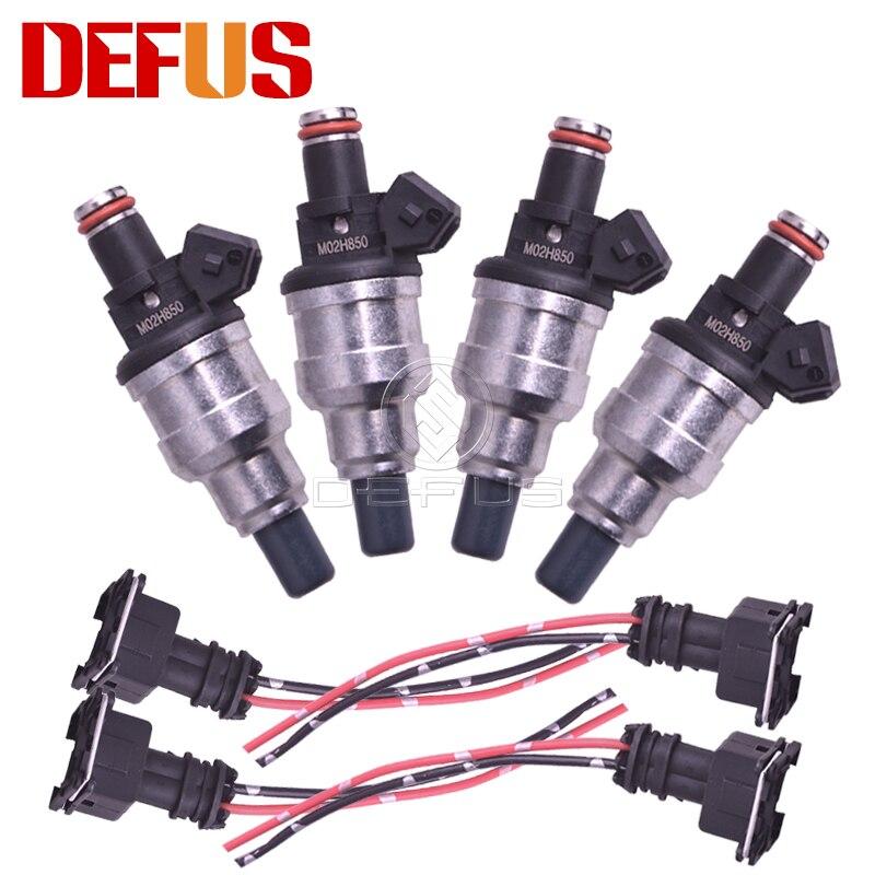 650cc Fuel Injectors Fit Honda VTEC Free Clips B16 B18 B20 D16 D18 F22 H22 H22A