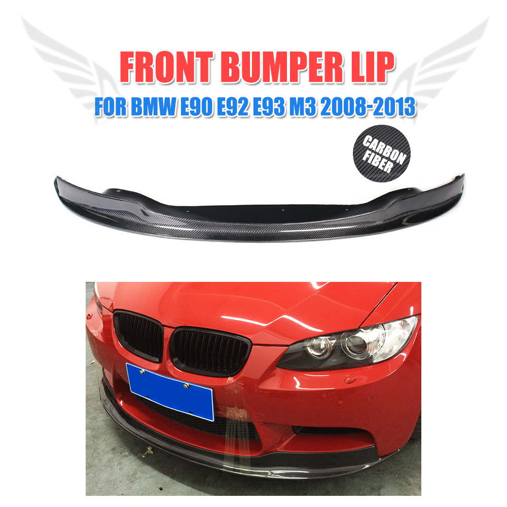 Carbon Fiber Front Bumper Lip Chin Spoiler Fit for BMW E90 E92 E93 M3 2008-2013 Car Styling