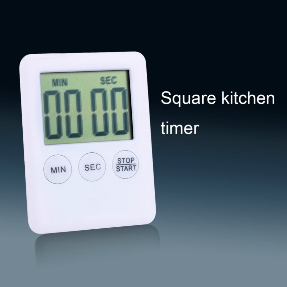 Digital Kitchen Timers LCD Stopwatch Reminder Alarm Cooking Alarm Clock Loud Magnets Count-Down Up Second