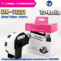 Rolos 10 Genérico DK-11221 Rótulo 23*23mm 1000Pcs Compatível para Impressora de Etiquetas Irmão Todos Vêm Com Plástico titular