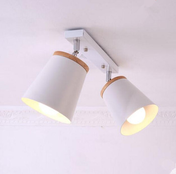 Modern Wooden LED Ceiling Lights White Metal Corridor Light Kitchen Wood Lamps Small Surface Mounted Lighting Fixtures