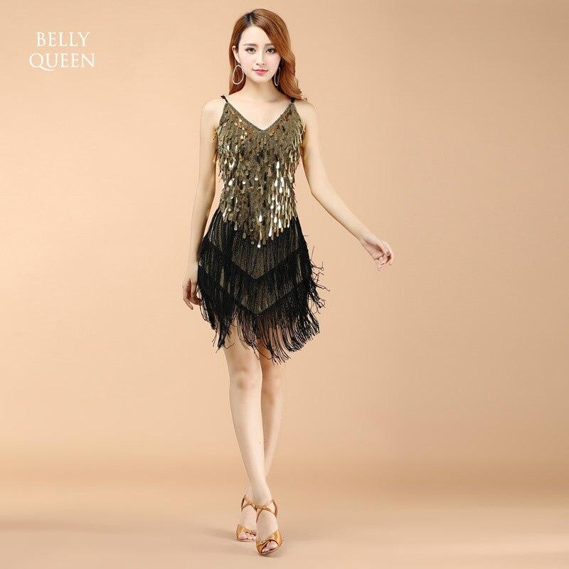 4 Colors Fashion Sex Lady Latin Dance Dress Tassel Samba -3192