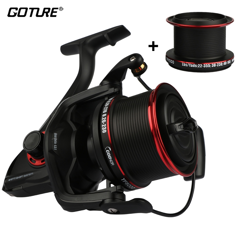 Goture Full Metal Double Spools Spinning Reel 12+1BB Ratio 4.6:1 Distant Fishing Wheel Fishing Tackle Max Drag 18KG сумка fun kraft fun kraft mp002xu00002
