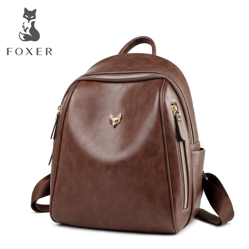 FOXER luxury fashion high quality shoulder bag female 2019 new fashion retro travel bag leather bag casual wild small backpack fFOXER luxury fashion high quality shoulder bag female 2019 new fashion retro travel bag leather bag casual wild small backpack f