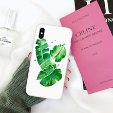 LAUGH LIFE Phone Case For iPhone 7 Plus Summer Candy Color Leaf Cases Back Cover Hot Selling Green Cactus Flower Silicone Shell