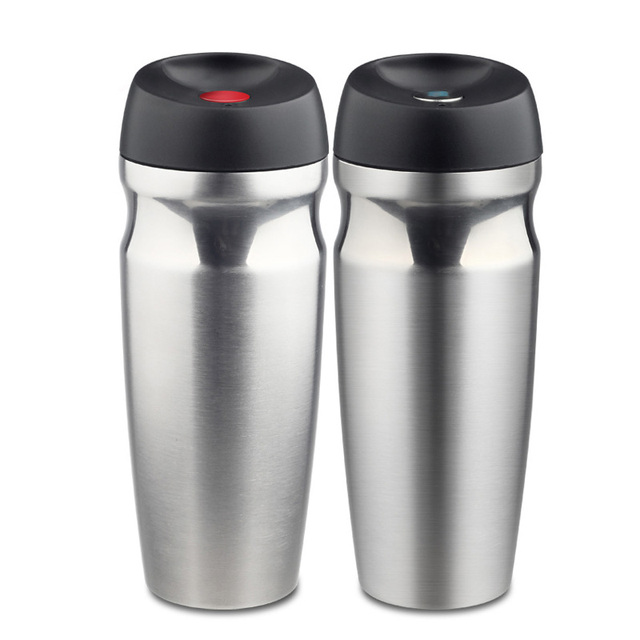Vacuum Insulated Travel Mug Double Wall Stainless Steel Tumbler