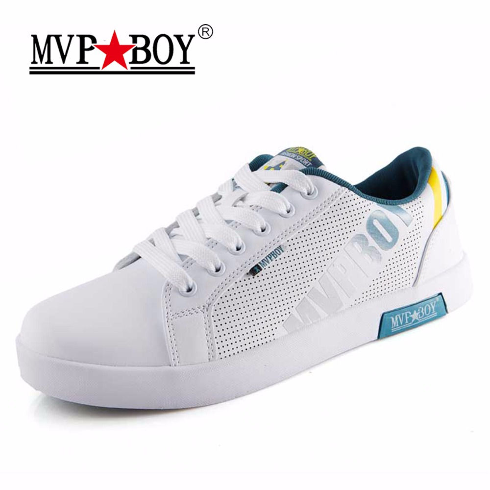 MVP BOY Brand British Style Men Casual Shoes New Summer Shoes High Quality Classic White Shoes Men Comfort Breathable Shoes Men monster mvp white