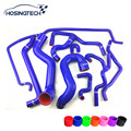 HOSINGTECH-para saab 9-5 2.0 T silicone radiador mangueira kits, 10 pcs cor azul