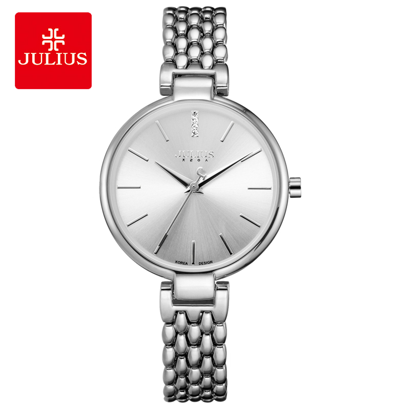 Thin Lady Women's Watch Japan Quartz Fashion Hours Clock Bracelet Stainless Steel Chain Business Girl Birthday Gift Julius Box new simple cutting glass women s watch japan quartz hours fashion dress stainless steel bracelet birthday girl gift julius box